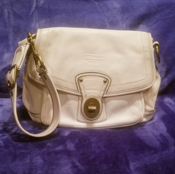 Coach Handbags - Coach legacy white leather sholderbag